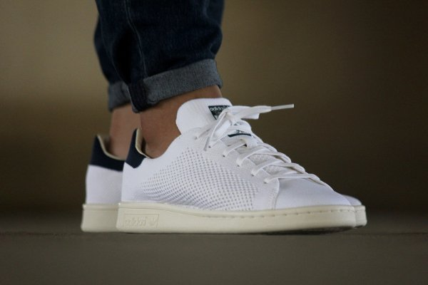 Basket Adidas Stan Smith OG PK Footwear White Navy (1)