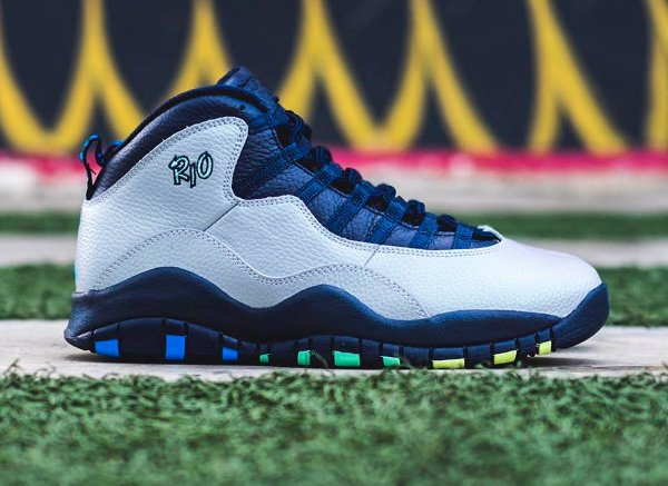 Basket Air Jordan 10 Retro City Rio Cool Grey (6)