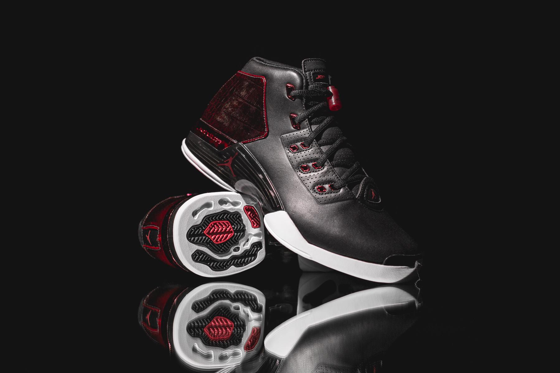 Basket Air Jordan 17+ Retro Bred Chacago Bulls (2)