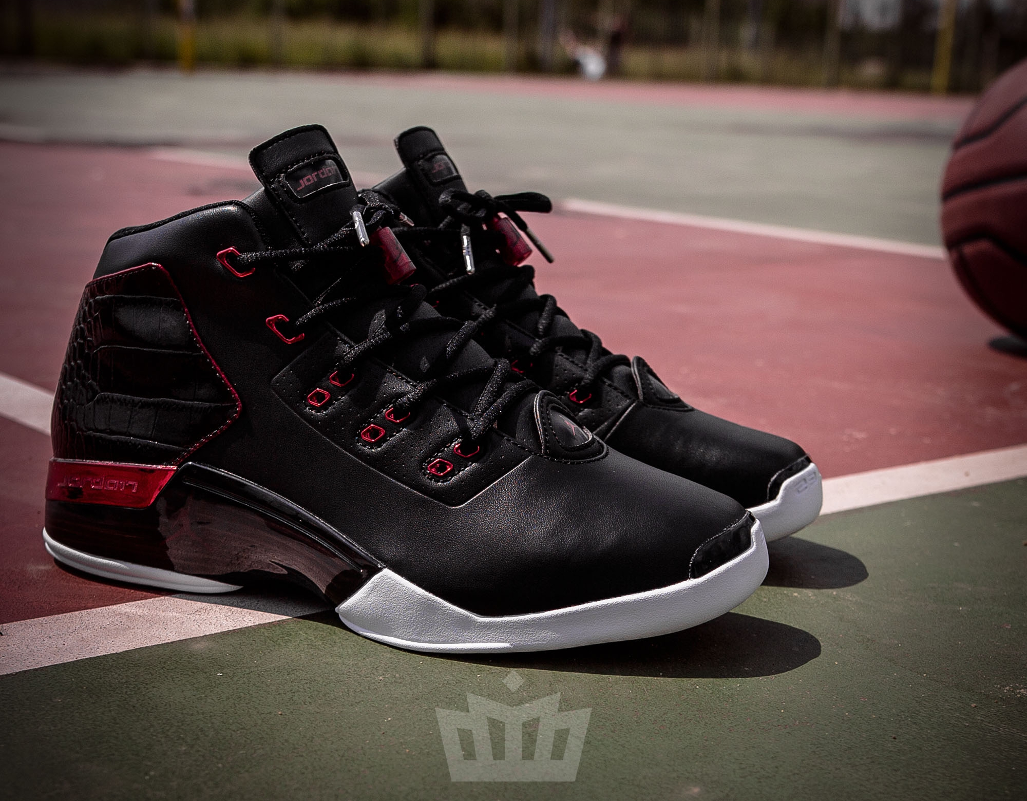 Basket Air Jordan 17+ Retro Bred Chacago Bulls (5)