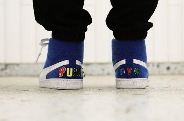 Basket Dee & Ricky x Puma Basket Mid Velcro Nautical Blue (bleu) (2)