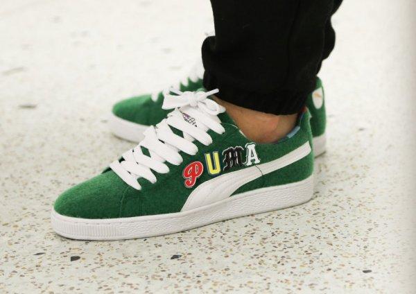 Basket Dee & Ricky x Puma Basket Velcro Verdant Green (vert)