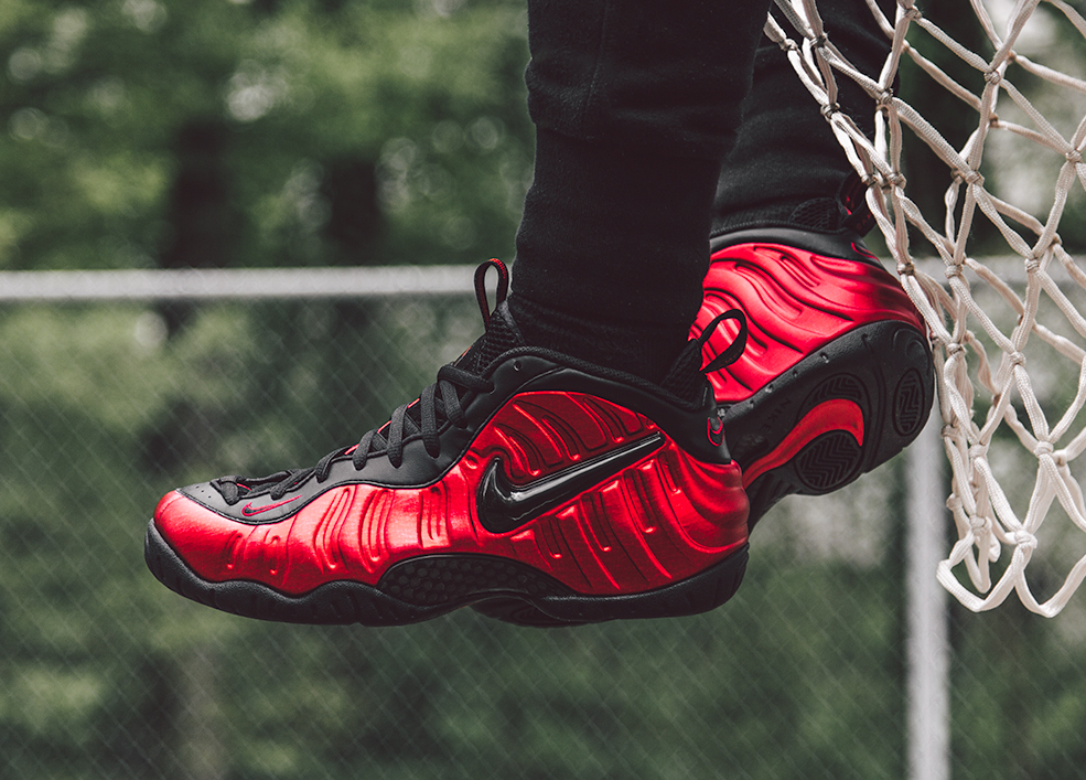 Basket Nike Air Foamposite Pro 'University Red' (2)