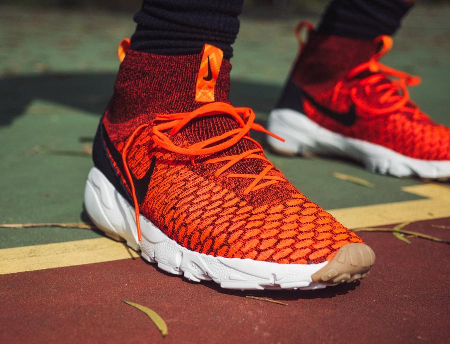 Basket Nike Air Footscape Magista Flyknit Bright Crimson Gold Lead (1)