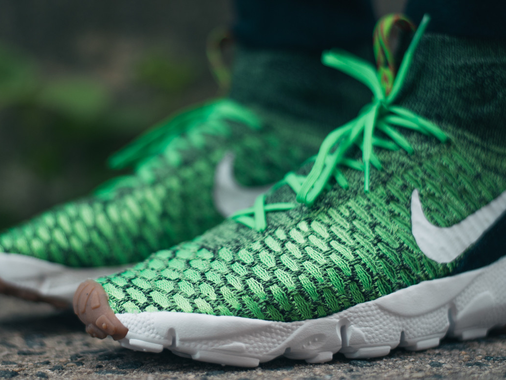 Basket Nike Air Footscape Magista Flyknit Poison Green (2)