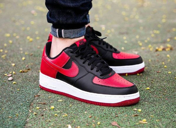 the best attitude c7b3d 7e004 Nike Air Force 1 Low (Black Gym Red-White)