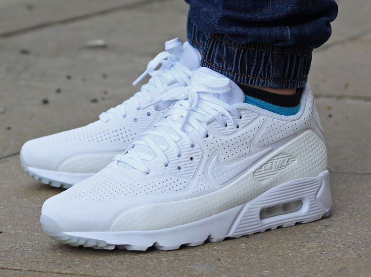 magasin en ligne d476d 472e2 Nike Air Max 90 Ultra Moire 'Triple White' (blanche)