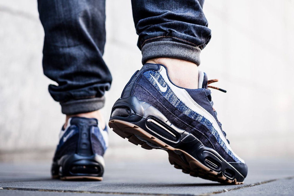grand choix de 5964c 620b0 Nike Air Max 95 PRM 'Denim' Dark Obsidian Gum