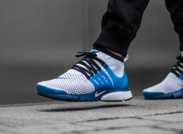 Basket Nike Air Presto Ultra Flyknit White Racer Blue Midnight (2)