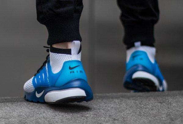 Basket Nike Air Presto Ultra Flyknit White Racer Blue Midnight (3)