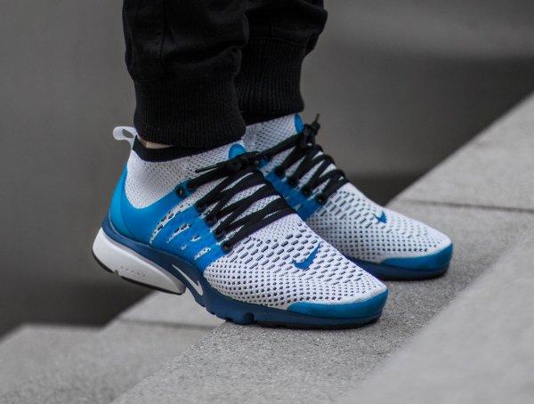Basket Nike Air Presto Ultra Flyknit White Racer Blue Midnight (4)