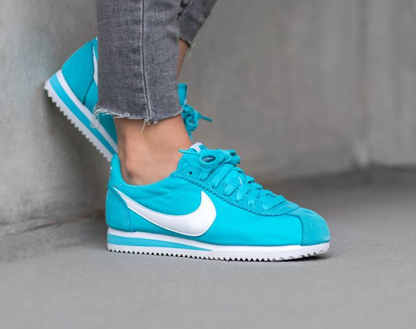 competitive price b94a0 19741 Nike Cortez Nylon 15 (femme) Maize, Blue, Ghost Green & Crimson