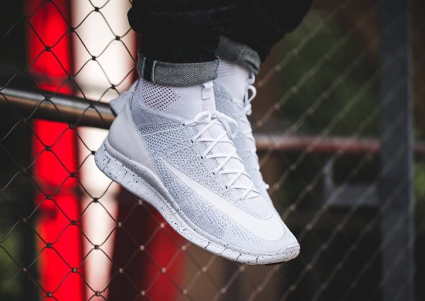 Nike Free Mercurial Superfly 'All White'