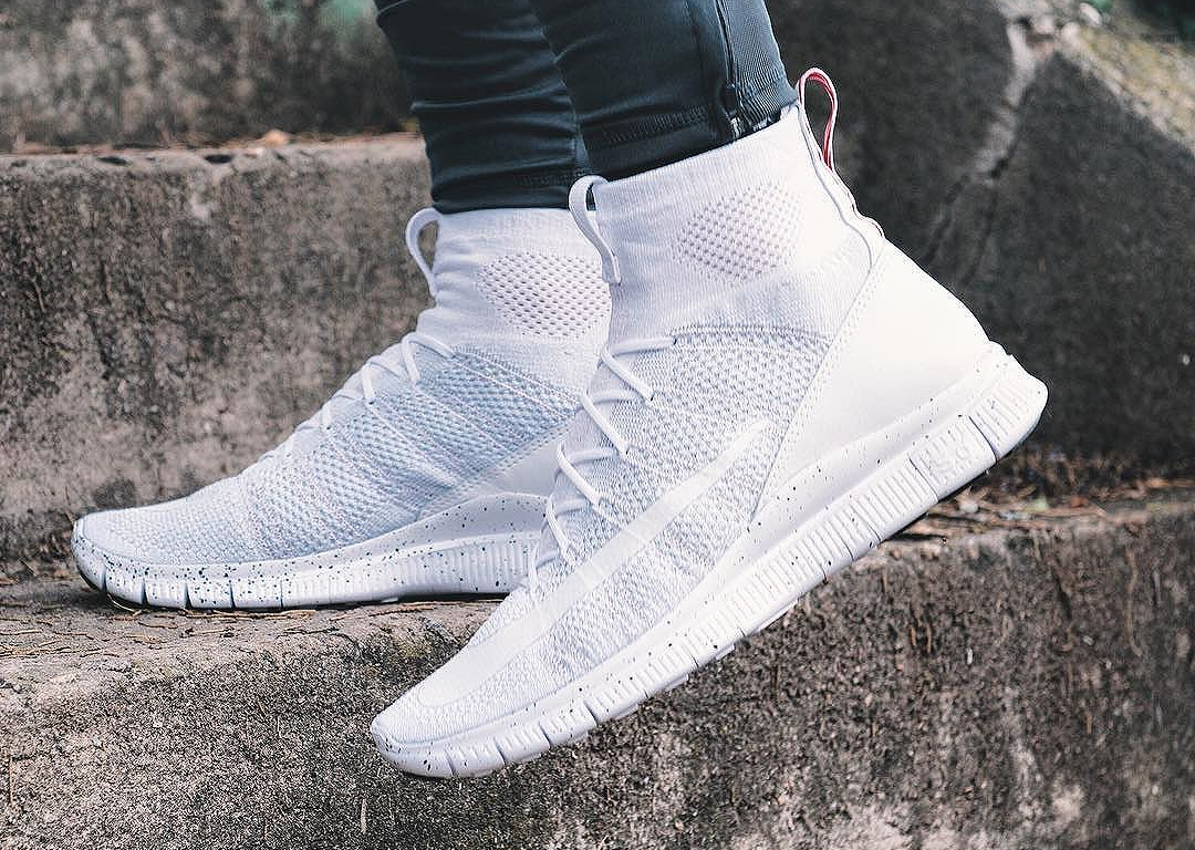 Basket Nike Free Flyknit Mercurial Superfly 'Triple White'