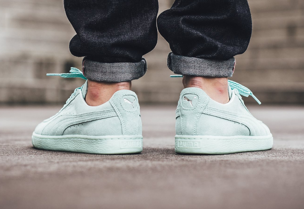 Basket Puma Suede Classic Mono Ref Iced Mint Bay Silver Puma (homme) (2)
