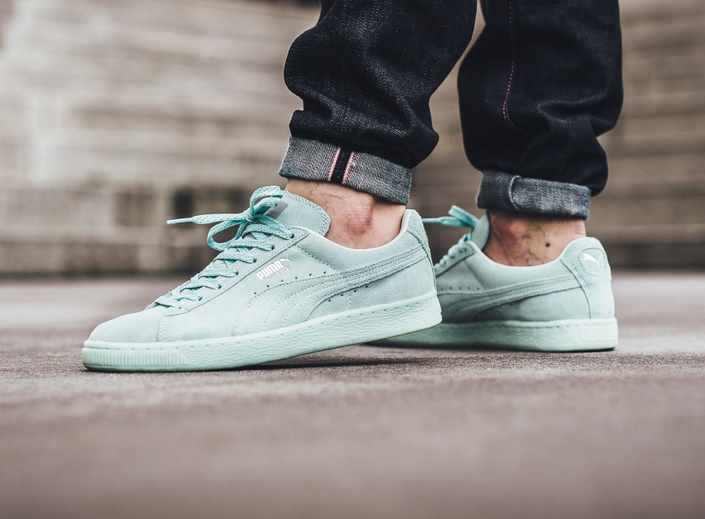 Basket Puma Suede Classic Mono Ref Iced Mint Bay Silver Puma (homme) (3)