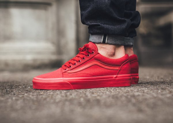 Basket Vans Old Skool Crimson Red (rouge) (1)