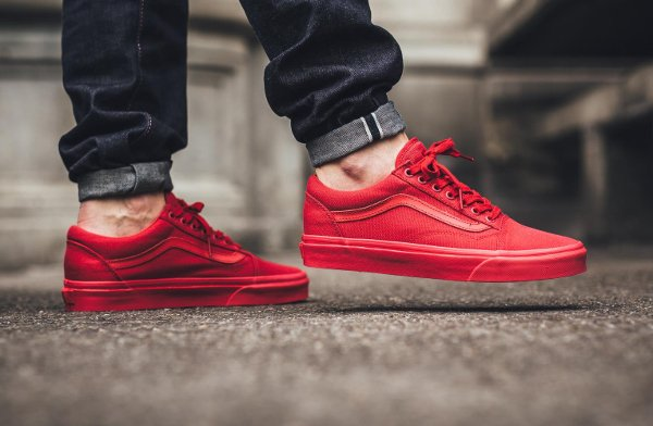 Basket Vans Old Skool Crimson Red (rouge) (2)