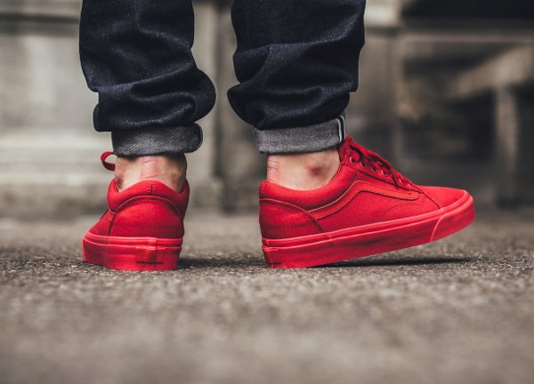 Basket Vans Old Skool Crimson Red (rouge) (3)