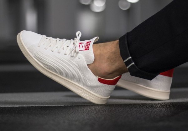 Chaussure Adidas Stan Smith OG PK (Footwear White Chalk White Red) (2)
