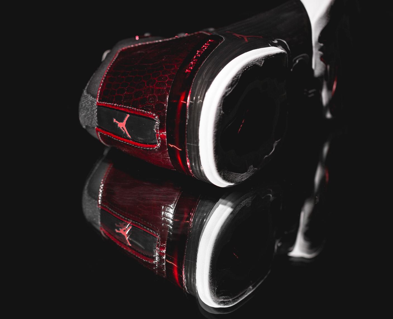 Chaussure Air Jordan 17+ Retro Black Gym Red (2)