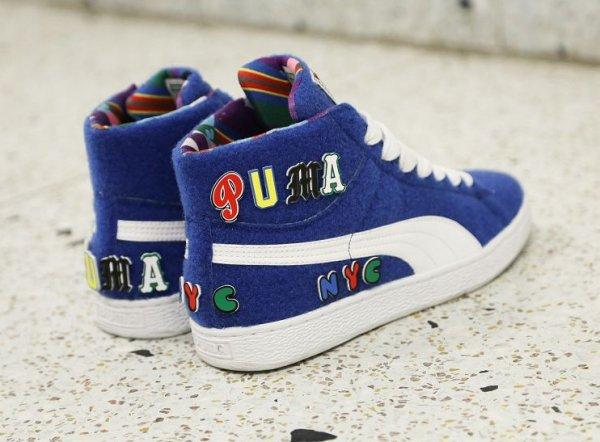 Chaussure Dee & Ricky x Puma Basket Mid Nautical Blue (1)