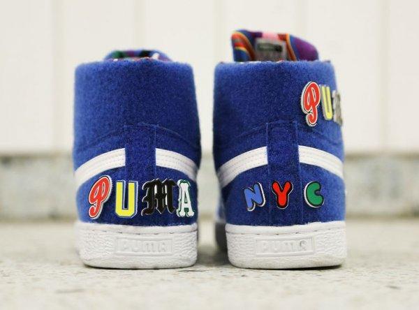 Chaussure Dee & Ricky x Puma Basket Mid Nautical Blue (2)