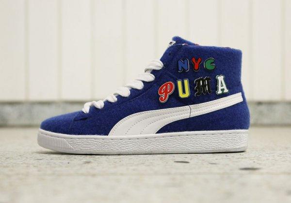 Chaussure Dee & Ricky x Puma Basket Mid Nautical Blue (3)