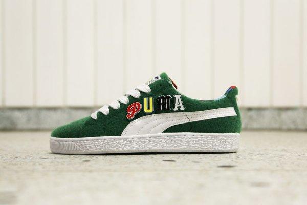 Chaussure Dee & Ricky x Puma Basket Verdant Green (4)