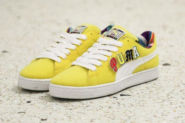 Chaussure Dee & Ricky x Puma Basket Vibrant Yellow (jaune) (1)