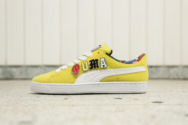 Chaussure Dee & Ricky x Puma Basket Vibrant Yellow (jaune) (2)
