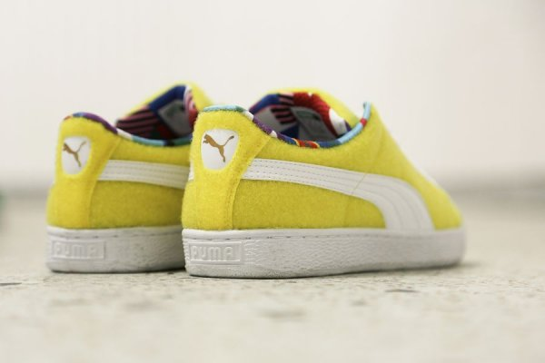 Chaussure Dee & Ricky x Puma Basket Vibrant Yellow (jaune) (3)