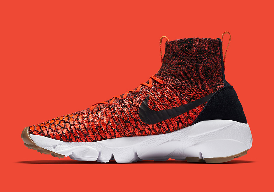 Chaussure Nike Air Footscape Magista Flyknit Bright Crimson Gold Lead (1-1)