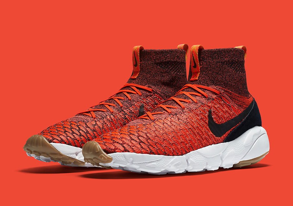 Chaussure Nike Air Footscape Magista Flyknit Bright Crimson Gold Lead (1)