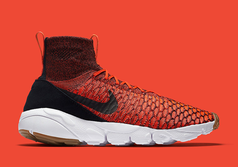 Chaussure Nike Air Footscape Magista Flyknit Bright Crimson Gold Lead (2)