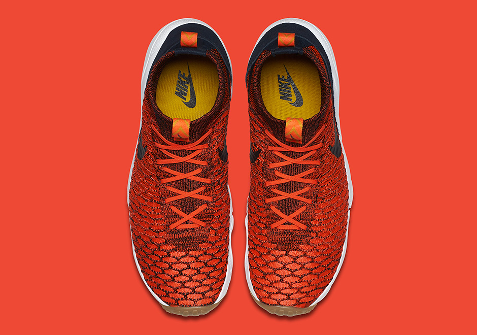 Chaussure Nike Air Footscape Magista Flyknit Bright Crimson Gold Lead (3)