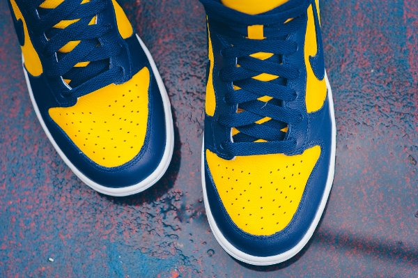 Chaussure Nike Dunk High Retro Michigan (Varsity Maize Midnight Navy) (6)