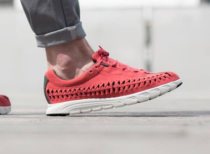 Chaussure Nike Mayfly Woven QS (Terra Red Dark Bs Grey Summit White) (2)