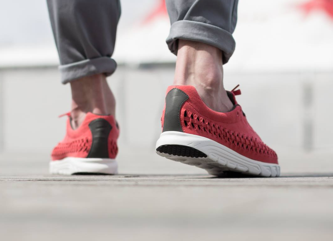 Chaussure Nike Mayfly Woven QS (Terra Red Dark Bs Grey Summit White) (3)