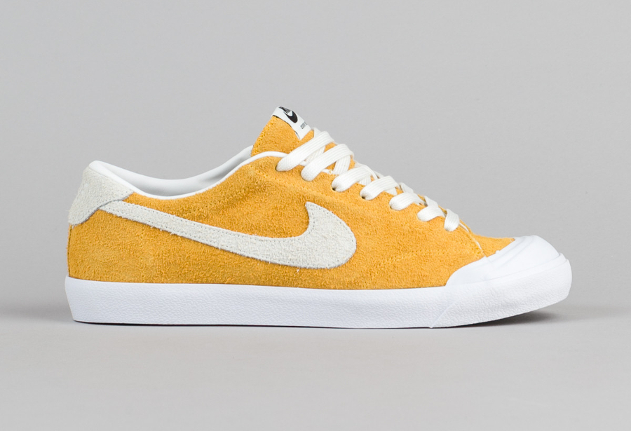 Chaussure Nike SB Air Zoom All Court Cory Kennedy daim jaune 3