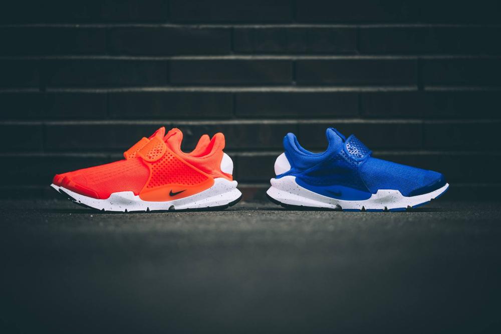 Chaussure Nike Sock Dart SE Total Crimson & Racer Blue (2)