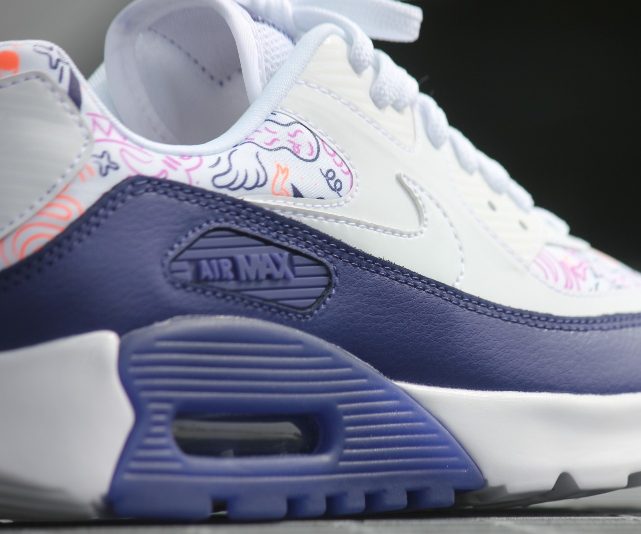 Chaussure Nike Wmns Air Max 90 Ultra Print 'White Dark Purple' (5)
