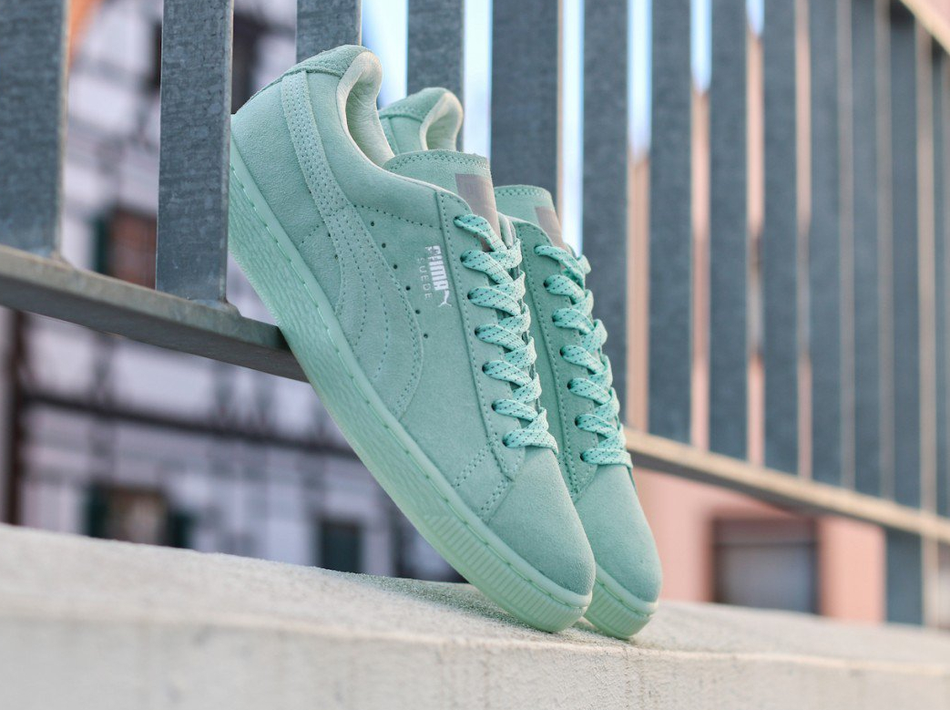Chaussure Puma Suede Classic Mono Ref Iced vert menthe (1)