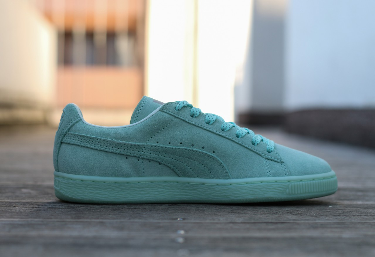 Chaussure Puma Suede Classic Mono Ref Iced vert menthe (2)