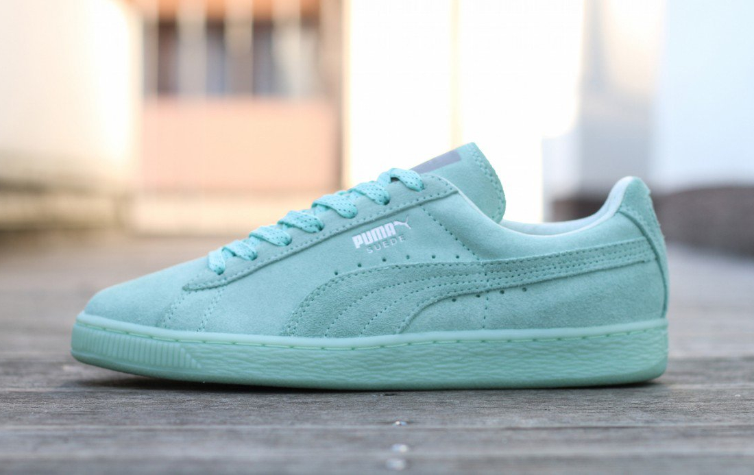 Chaussure Puma Suede Classic Mono Ref Iced vert menthe (5)