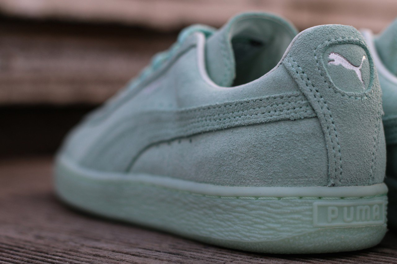 Chaussure Puma Suede Classic Mono Ref Iced vert menthe (7)