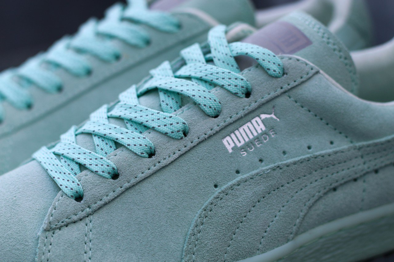 Chaussure Puma Suede Classic Mono Ref Iced vert menthe (8)