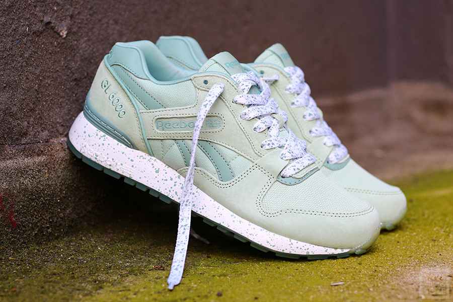 Chaussure Reebok GL 6000 Speckles & Ice Sage Mist vert menthe (femme) (1)