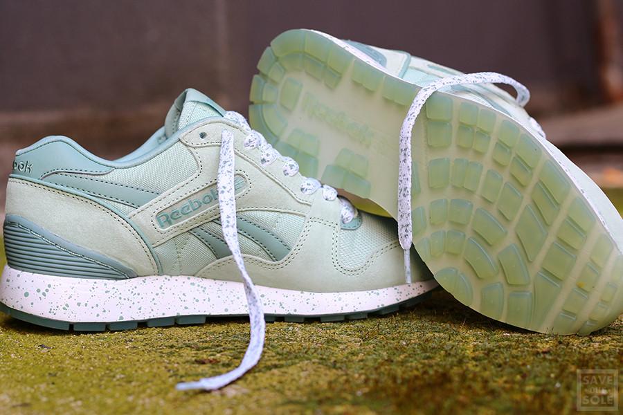 Chaussure Reebok GL 6000 Speckles & Ice Sage Mist vert menthe (femme) (2)