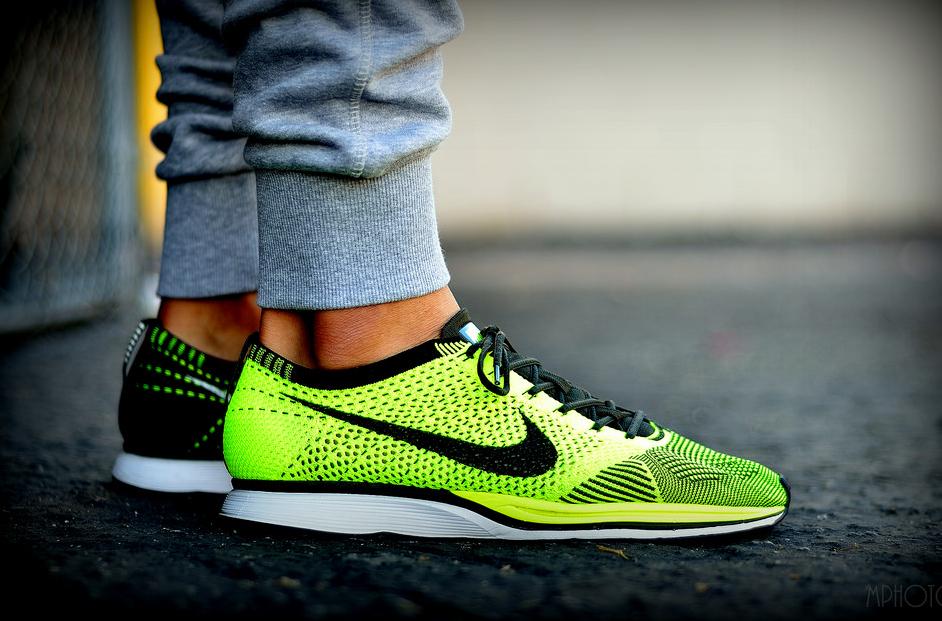 sports shoes 230c1 22ae2 Nike Flyknit Racer Volt - @yokickz (1)